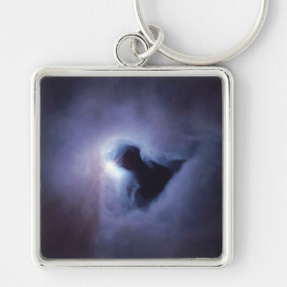 Empty space NGC 1999 Silver-Colored Square Key Ring