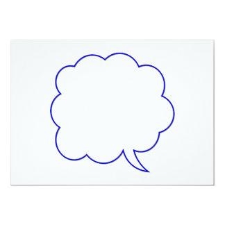 Empty speech bubble #1 13 cm x 18 cm invitation card