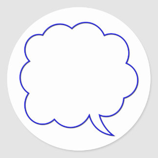 Empty speech bubble #1 classic round sticker