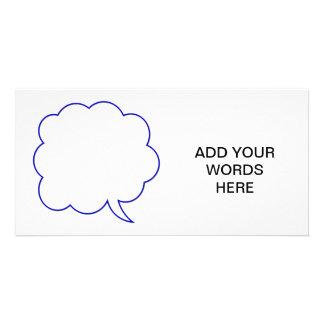 Empty speech bubble #1 customised photo card