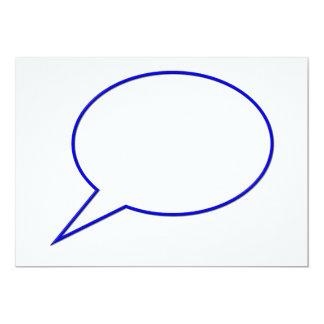 Empty speech bubble #2 13 cm x 18 cm invitation card