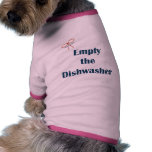 Empty The Dishwasher Reminders Doggie Tee