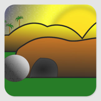 Empty Tomb Square Sticker