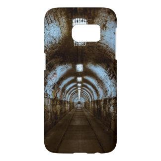Empty Train Track Tunnel with Graffiti Phone Case
