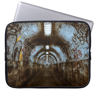 Empty Train Track Tunnel with Graffiti Sleeve Laptop Computer Sleeve