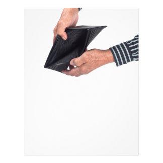 Empty wallet flyer design