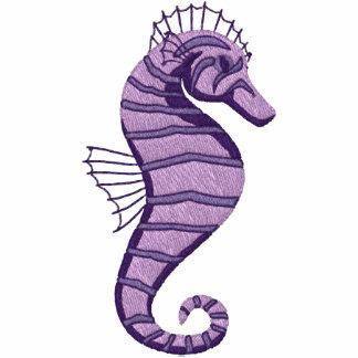 Emrboidered Purple Seahorse Tees - Customizable
