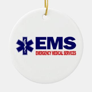 EMS 3 ROUND CERAMIC DECORATION