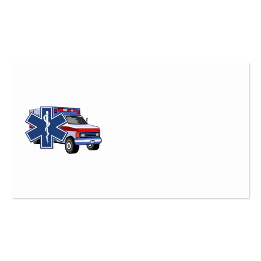 EMS Ambulance Business Card Templates