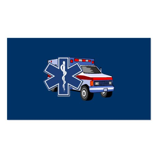 EMS Ambulance Business Card Template