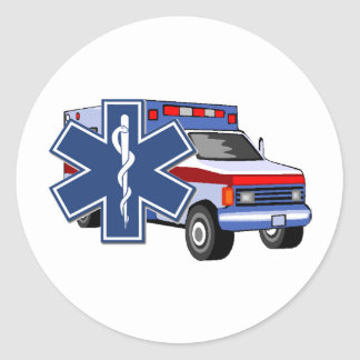 EMS Ambulance Classic Round Sticker