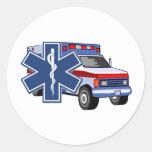EMS Ambulance Round Stickers