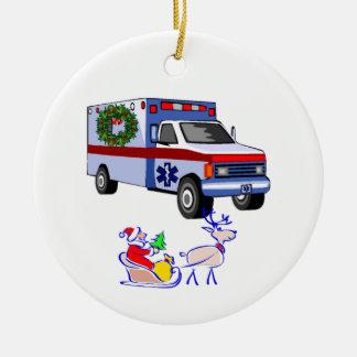 EMS Christmas Gifts Round Ceramic Decoration