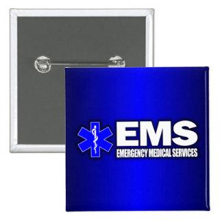 EMS -Emergency Medical Services 15 Cm Square Badge