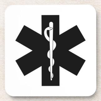 EMS EMT Paramedic Star Drink Coasters