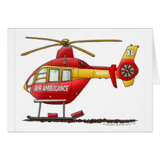 EMS EMT Rescue Medical Helicopter Ambulance Card