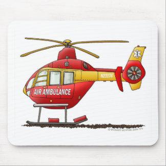 EMS EMT Rescue Medical Helicopter Ambulance Mouse Mat