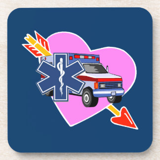 EMS Heart of Care Beverage Coaster