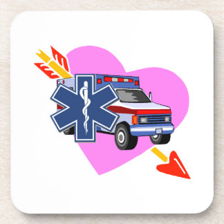 EMS Heart of Care Beverage Coasters