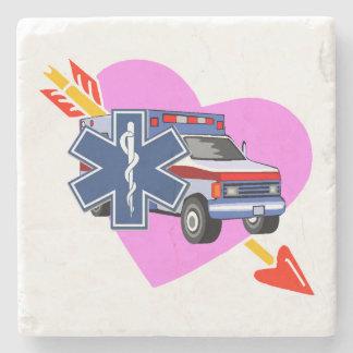 EMS Heart of Care Stone Coaster