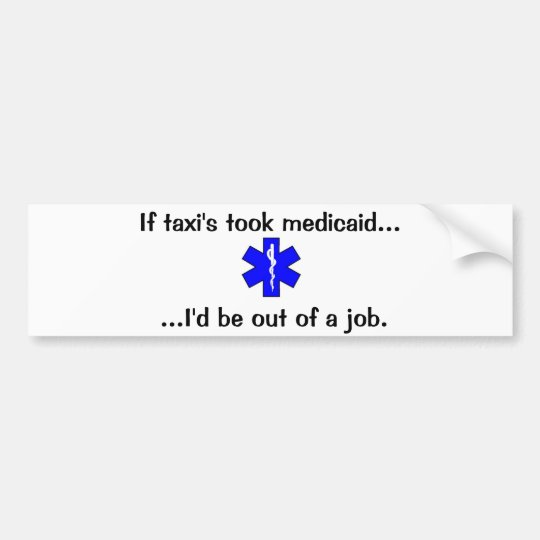 EMS or Taxi Bumper Sticker