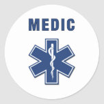 EMS ParaMedic Star of Life Round Sticker