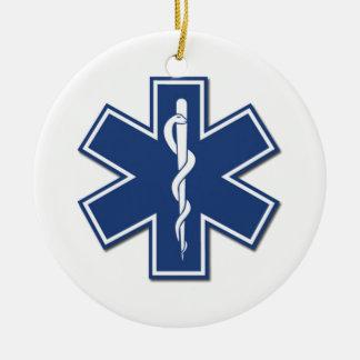EMS Star of Life Christmas Ornament
