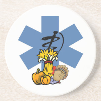EMS Thanksgiving For EMT and Paramedics Beverage Coasters