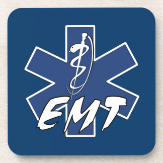 EMT Active Star of Life Drink Coasters