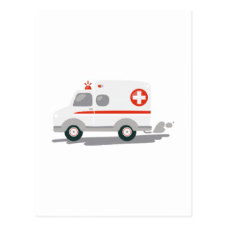 EMT Ambulance Postcard