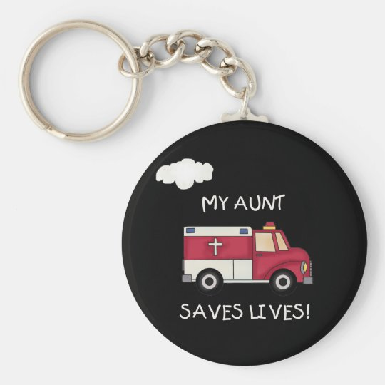 EMT Aunt Saves Lives Key Ring