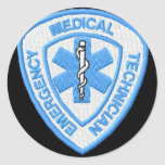 EMT BADGE ROUND STICKER