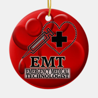 EMT BLOOD ORNAMENT - EMERGENCY MEDICAL TECH
