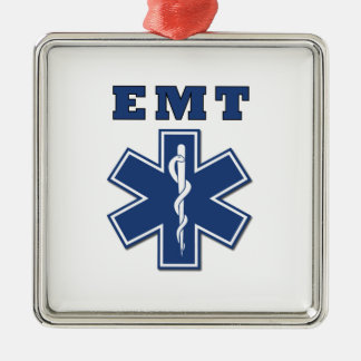 EMT BLUE STAR OF LIFE CHRISTMAS ORNAMENT