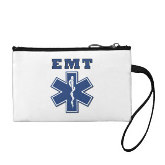 EMT Blue Star Of Life Coin Purse