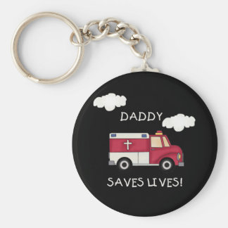 EMT Daddy Saves Lives Key Ring