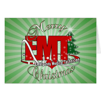 EMT Emergency Medical Technician CHRISTMAS Card