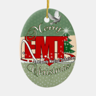 EMT Emergency Medical Technician CHRISTMAS Christmas Ornament