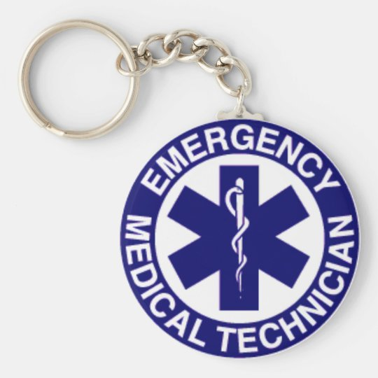 EMT Emergency Medical Technician Key Ring