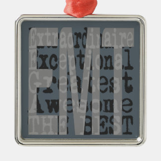 EMT Extraordinaire Silver-Colored Square Decoration