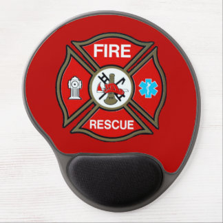 EMT Firefighter Maltese Cross Gel Mouse Pad