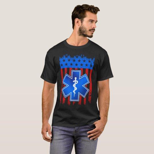 EMT Flag Blue Shirt