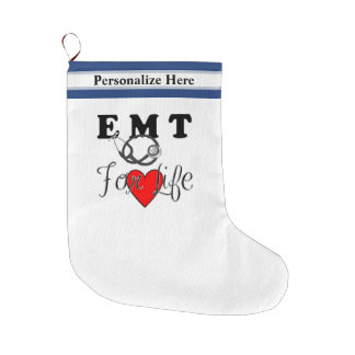 EMT For Life Large Christmas Stocking