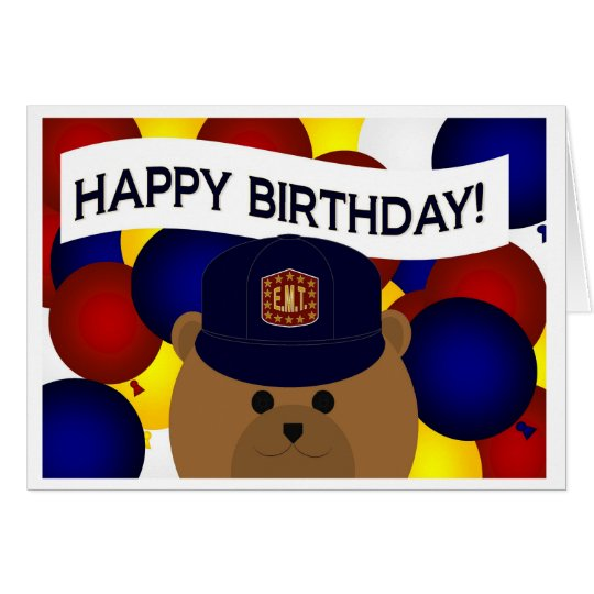 EMT - Happy Birthday EMT Hero! Card