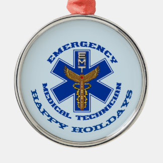 EMT Happy Holidays Christmas Ornament