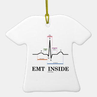 EMT Inside (Sinus Rhythm Electrocardiogram) Christmas Tree Ornaments