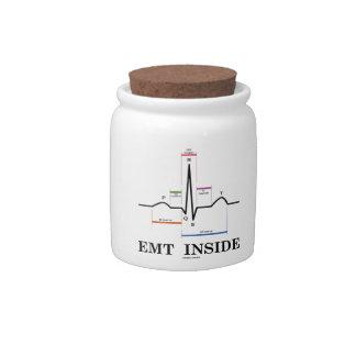 EMT Inside (Sinus Rhythm Electrocardiogram) Candy Jar