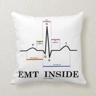 EMT Inside (Sinus Rhythm Electrocardiogram) Throw Pillow