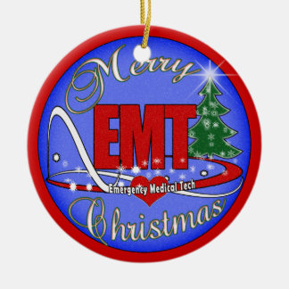 EMT MERRY CHRISTMAS ORNAMENT EMERGENCY MEDICAL TEC