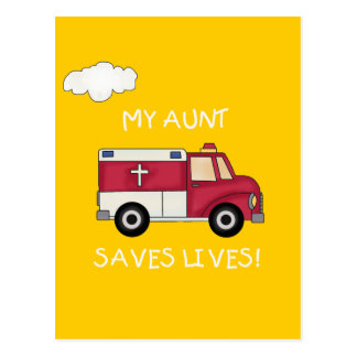 EMT My Aunt Saves Lives T-shirts and Gifts Postcard